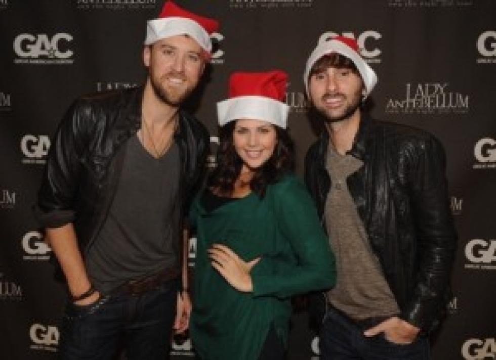 lady antebellum says dig out your christmas sweater video